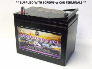 LEOCH 85-AGM-EV  12V 85ah Deep Cycle Rechargeable AGM Batteries - GOLF BUGGY